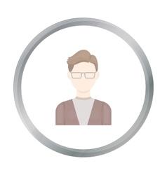 Man with glasses icon cartoon single avatar vector