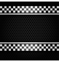 Metallic perforated gray sheet vector image vector image