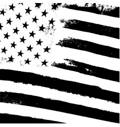 monochrome grunge american flag background vector image vector image
