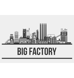 Outline of giant manufactory or plant factory or vector