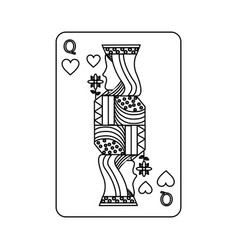 Queen of heart playing card casino poker vector