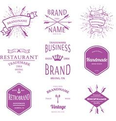 Retro Vintage Insignias or Logotypes set design vector image vector image