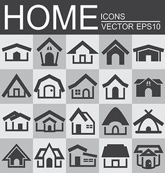 Set of home icons vector