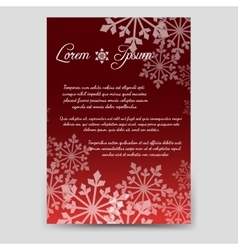 Winter brochure template with snowflakes vector