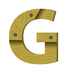 wood letter G vector image vector image