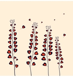 Field flowers vector