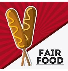 Fair food snack carnival icon vector