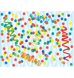 Paper streamer and confetti vector