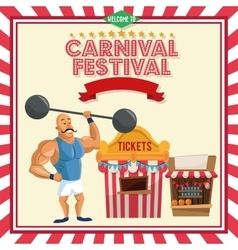 Strength man of carnival design vector