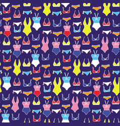 seamless pattern with hand drawn underwear vector image