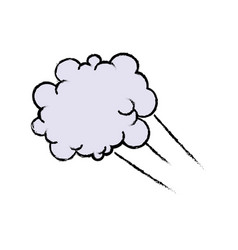 Drawing fluffy cloud shaped think bubble vector