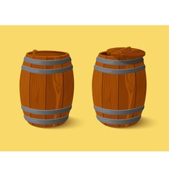 Barrel wooden casks vector