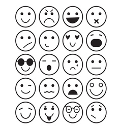 Smilies icons different emotions vector
