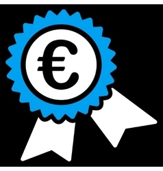 European guarantee seal icon vector