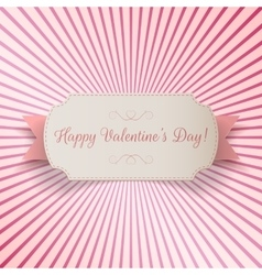 Valentines day paper bend banner template vector
