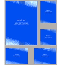 Blue mosaic page corner design template vector