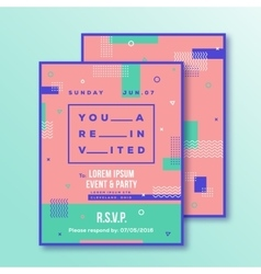 Event party invitation card template modern vector