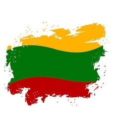Lithuania flag grunge style on white background vector
