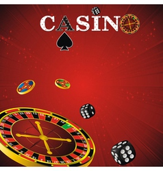 roulette casino red vector image