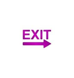 Exit icon - vector