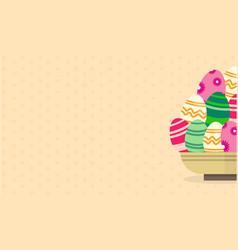 Art of easter egg greeting card vector