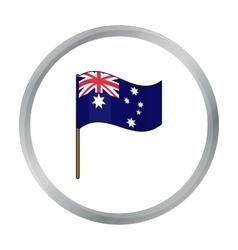 Australian flag icon in cartoon style isolated on vector