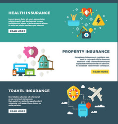 business insurance banking services and safety vector image vector image