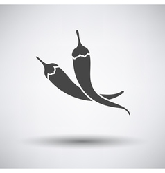 Chili pepper icon on gray background vector