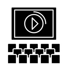 Cinema screen show icon vector