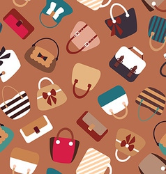 Collection of Retro Woman Bags Seamless Background vector image vector image