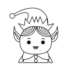 Elf or santas helper christmas character icon vector