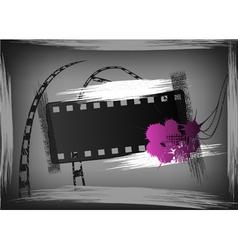 film grunge banner vector image vector image