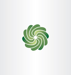 gradient green circle tech abstract logo icon vector image vector image