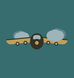 icon in flat design for airport plane takes off vector image