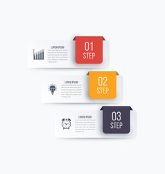 Infographics 3 options vector