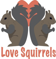 Love squirrels vector