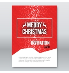 Merry Christmas Red Invitation Card design vector image vector image
