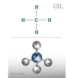 Methane molecule image vector