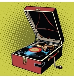 Phonograph vinyl record player vector image vector image