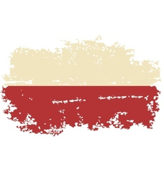 Polish grunge flag vector