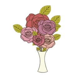 Roses flower icon image vector