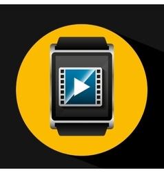 Smart watch concept movie strip social media vector