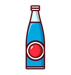Soda bottle icon cartoon style vector