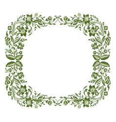 spring or summer floral frame vector image vector image