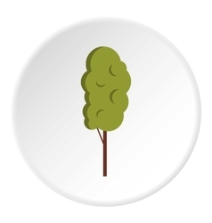 Tall wood icon flat style vector image vector image