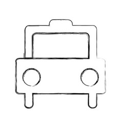 Taxi vehicle isolated icon vector