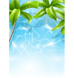 tropical theme vector image vector image