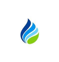 Water drop abstract eco logo vector