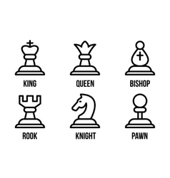 Set of chess icons vector