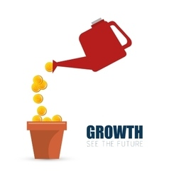 Investment growth finance money concept vector